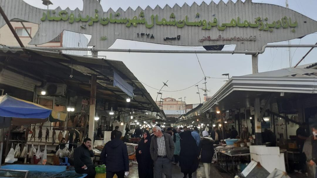 بازار ماهی فروشان شهر فریدونکنار